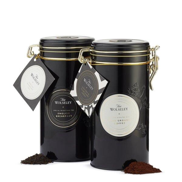 English Breakfast Loose Leaf Tea & Coffee Tin Gift Set