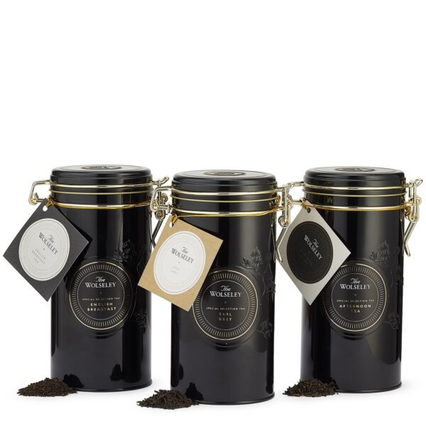 Loose leaf tea tin trio gift set