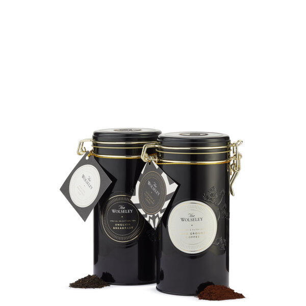 Duo of tea and coffee tins