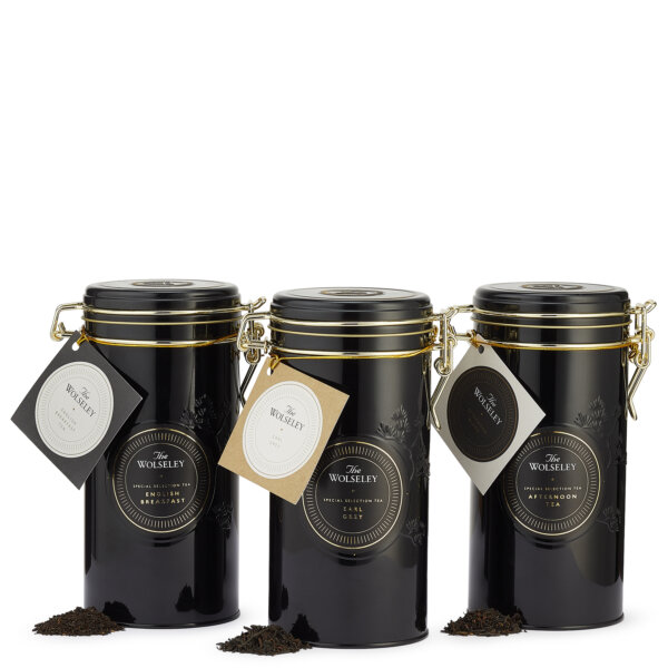 Three tea and coffee tins