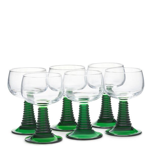 Set of six roemer glasses - Glassware - The Wolseley