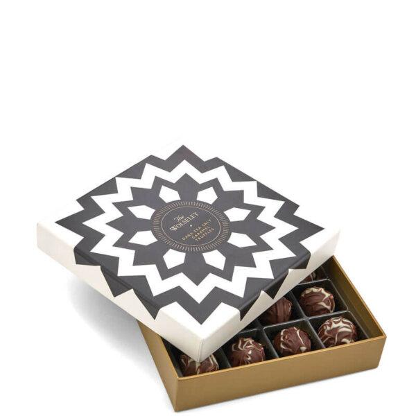 dark sea salt caramel truffles