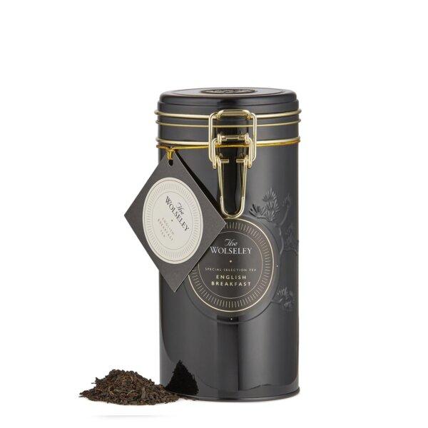 English Breakfast loose leaf tea tin