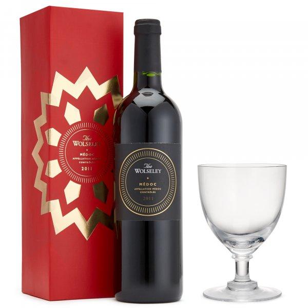 The Wolseley Médoc 2011 and a Crystal Wine Glass