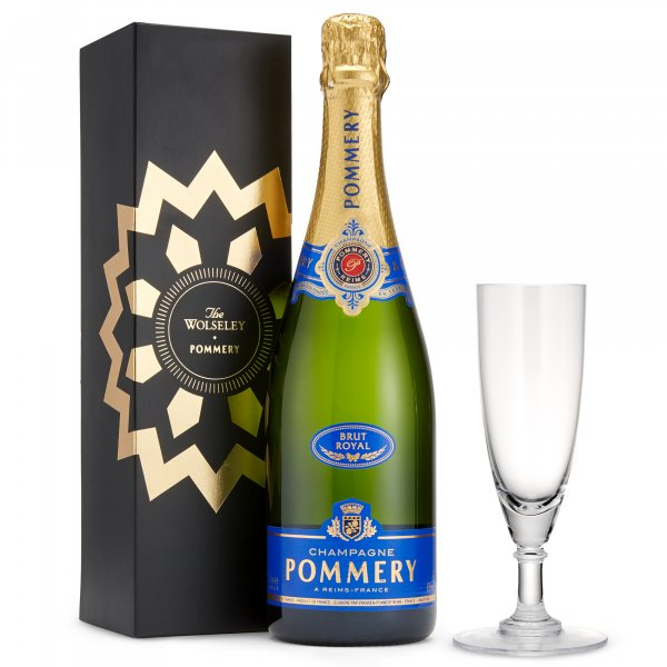 Pommery Brut Royal NV and a Crystal Champagne Flute Glass