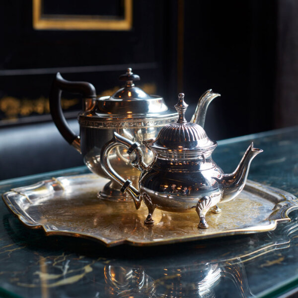 Vintage Silver-Plated Pots at The Wolseley