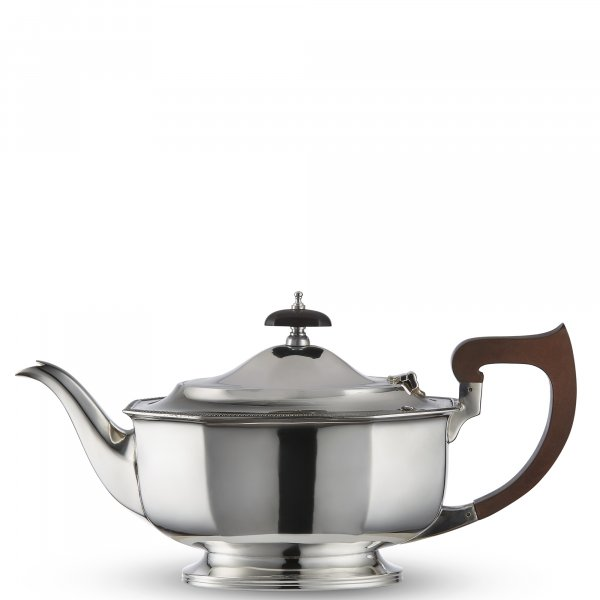 Vintage Silver-Plated Panelled Art Deco Teapot