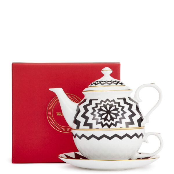fine bone China mug, set of two with red box
