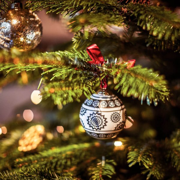 Fine bone China Christmas bauble - Gifts & Hampers - The Wolseley