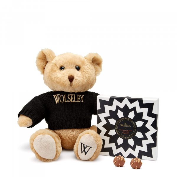 The Wolsley teddy bear and chocolate truffles