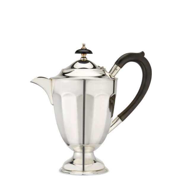 Large silver tea pot