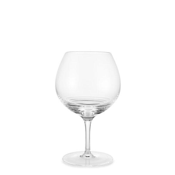 Bevelled red wine glasses