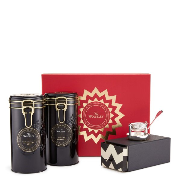 Loose leaf gift box with tea strainer