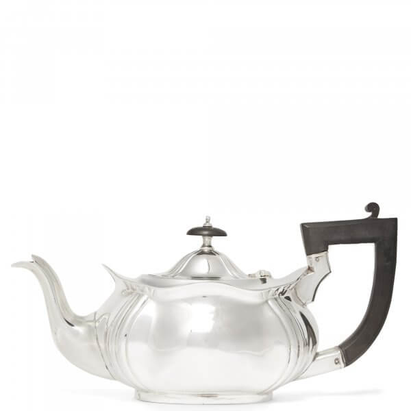 Silver-platted vintage teapot at The Wolseley