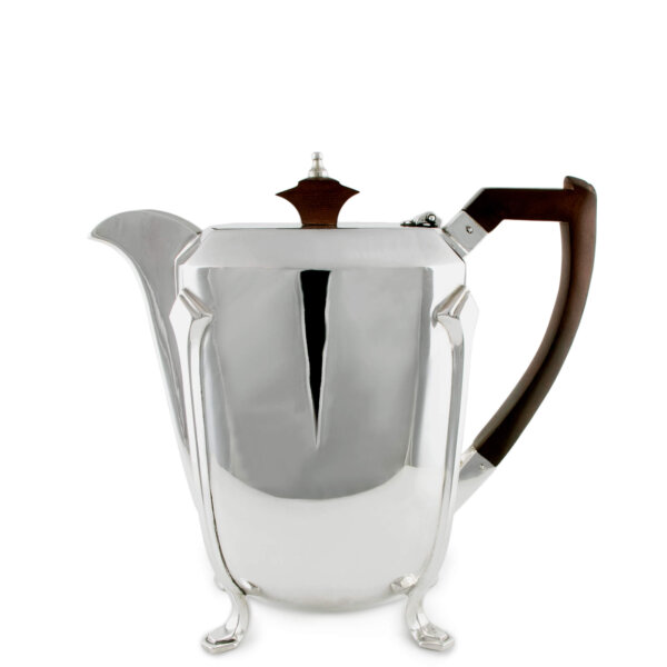 Vintage silver-plated teapot available to purchase at The Wolseley on Piccadilly