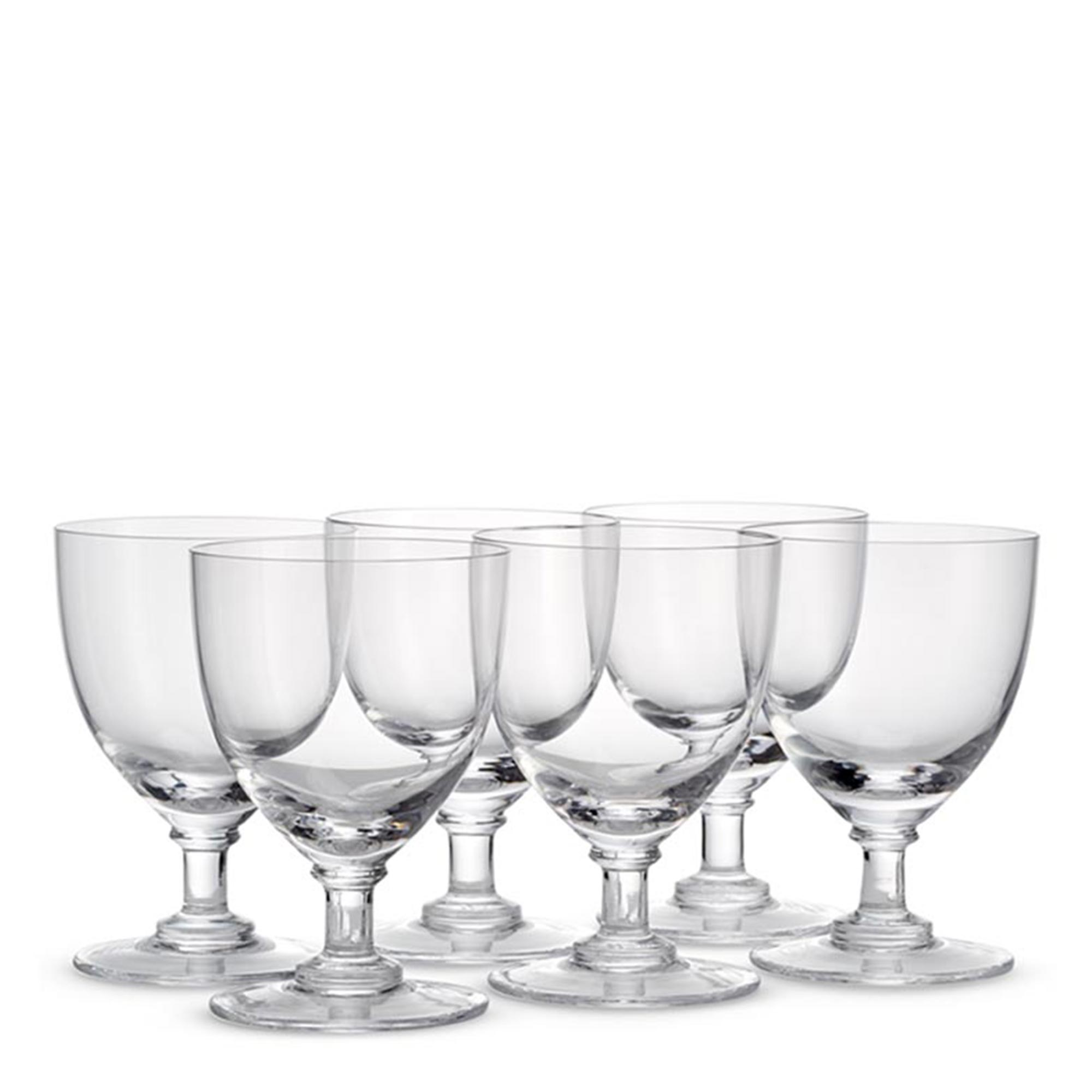 Set of six crystal wine glasses - Glassware - The Wolseley