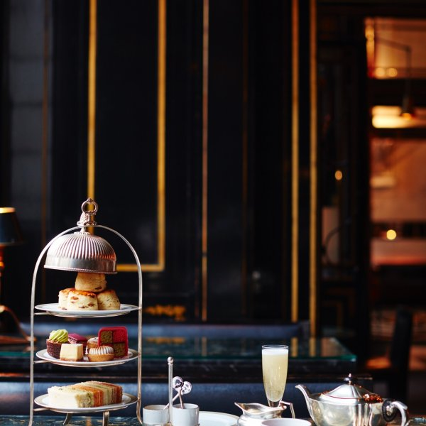 Afternoon tea with champagne at The Wolseley