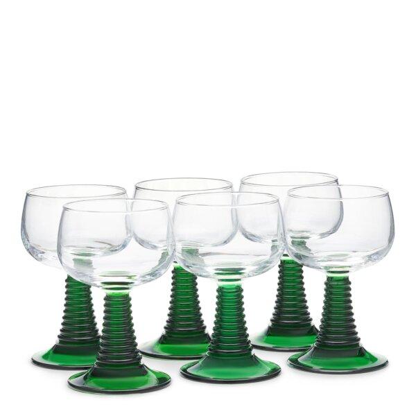Set of six roemer glasses