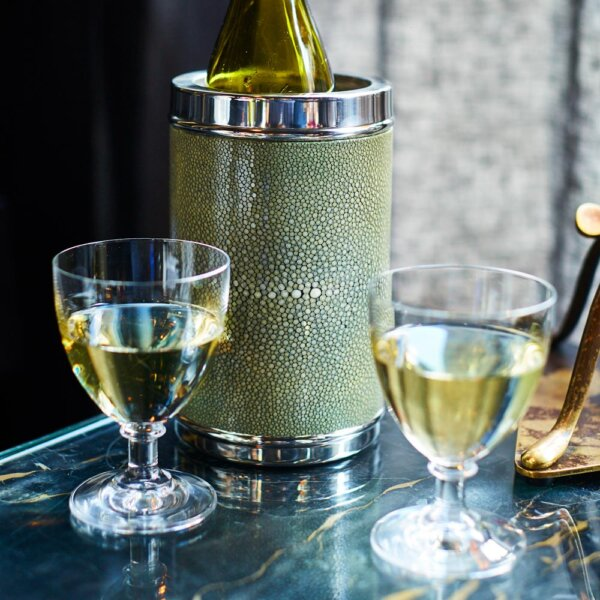 The Wolseley Wine cooler and crystal glasses - Shop