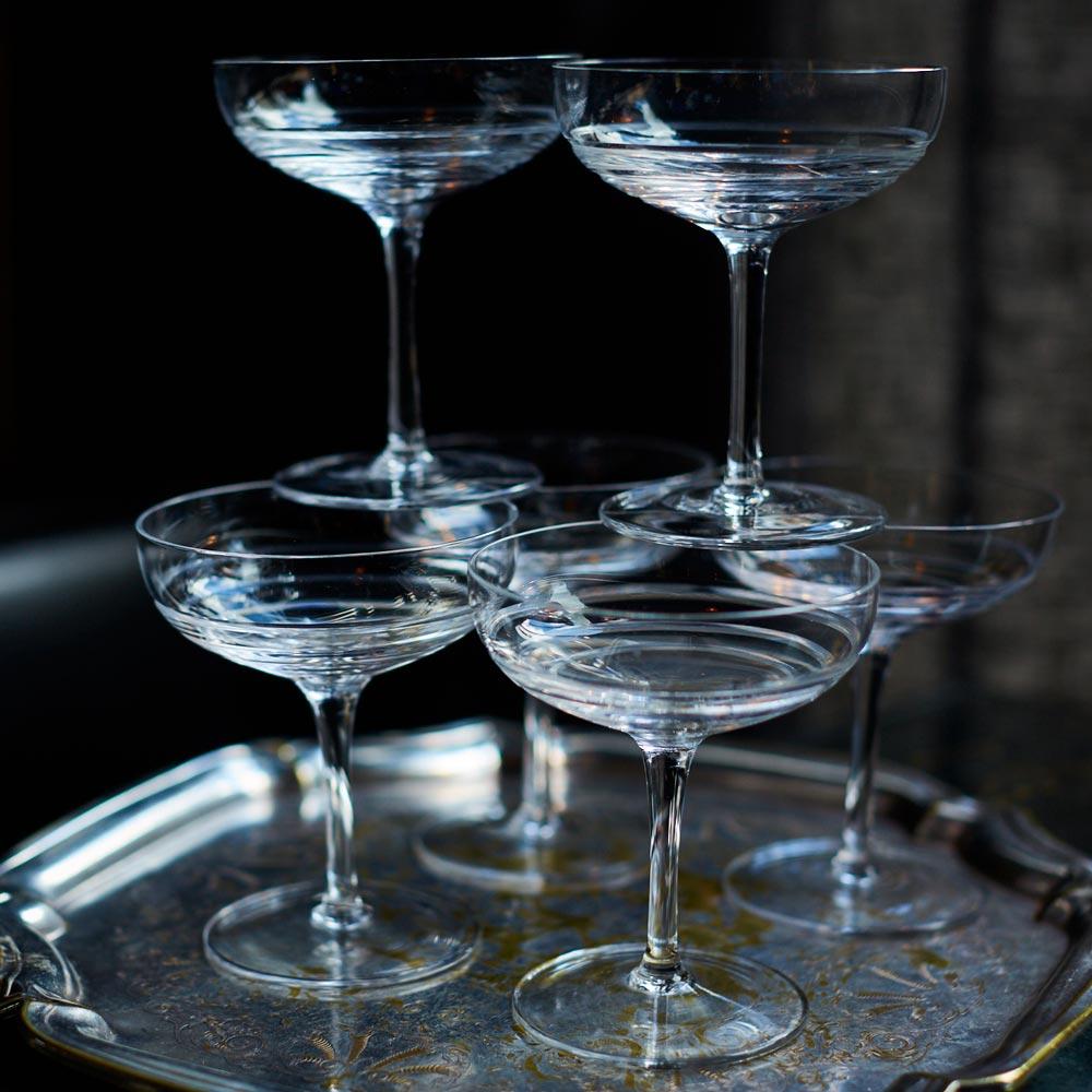 Set of six crystal glasses - Glassware - The Wolseley