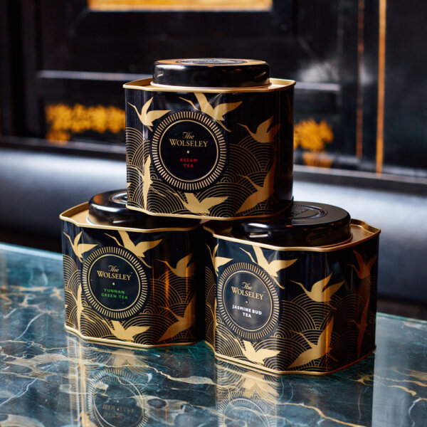 Three Tea Caddy Tins at The Wolseley - Gifts & Hampers - The Wolseley