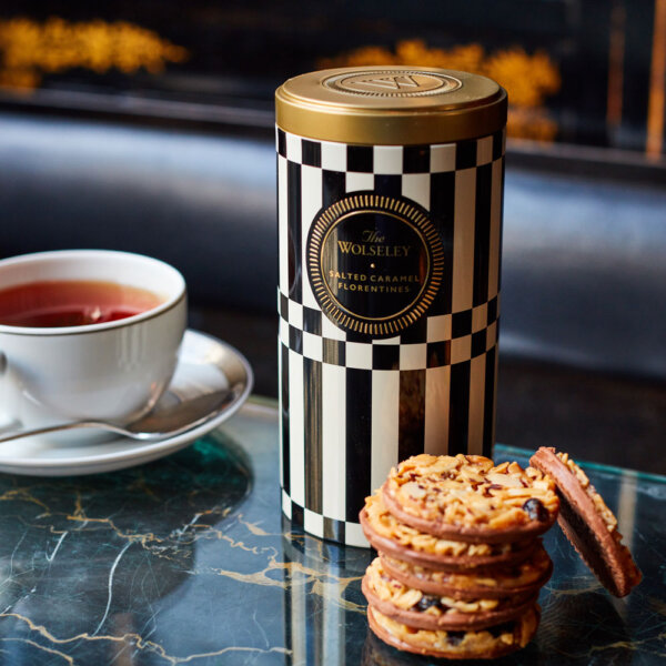Salted Caramel Florentines and a Cup of Tea