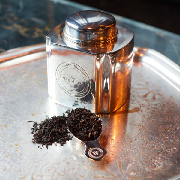 Silver-Plated Tea Caddy and Silver-Plated Caddy Spoon