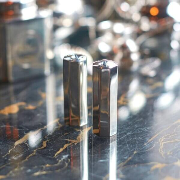 Silver-Plated Octagonal Column Salt and Pepper Shakers - Gifts & Hampers - The Wolseley