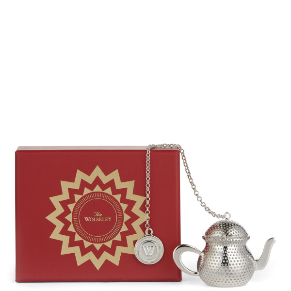Silver-Plated Tea Infuser and Box