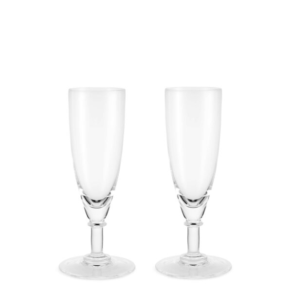 The Wolseley Set of Two Crystal Champagne Flute