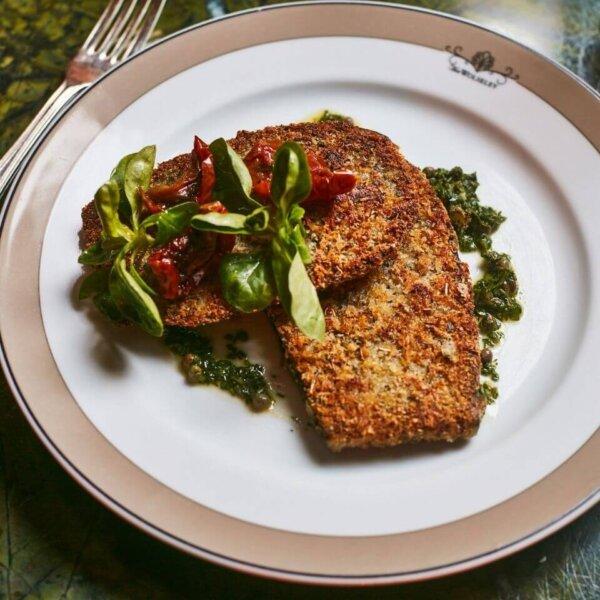 Aubergine Schnitzel - Vegan - The Wolseley Food Delivery