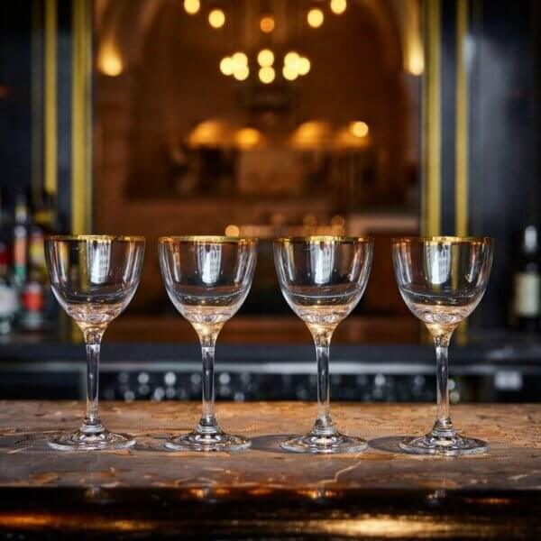 Set of Four Martini Cocktail glasses - The Wolseley