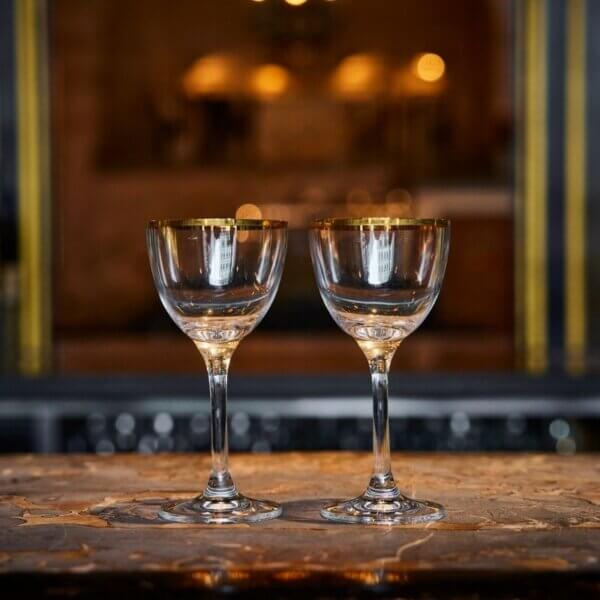 The Wolseley Two Martini Glasses
